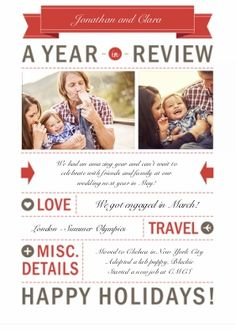 Year in Review Love holiday photo card | Season's Greetings Cards | By Snapfish | Snapfish