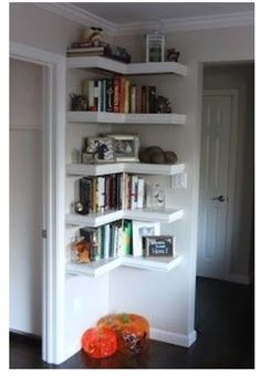 Corner Shelves - great use of space