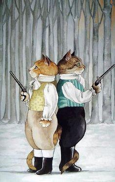 CAT FIGHT ....