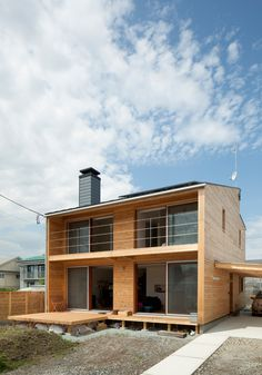 """tohoku university of art & design: house-m. """"The house integrates passive energy systems into its operation to  reduce its fossil energy needs to 10% of an ordinary japanese house."""""""