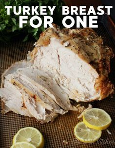 Flavorful Herb Crusted Roast Turkey Breast, easy to make and the perfect  size if you're cooking for one or two people. A wonderful alternative  to roasting a whole turkey and no basting necessary! Roast Turkey Recipes, Meat Recipes, Dinner Recipes, Cooking Recipes, Chicken Recipes, Cooking Ideas, Curry Recipes, Healthy Chicken, Best Turkey Recipe