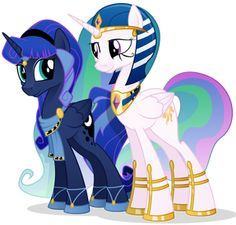 egyptian mlp princess luna and princess celestia My Little Pony Comic, My Little Pony Drawing, My Little Pony Pictures, Mlp My Little Pony, My Little Pony Friendship, Princesa Celestia, Celestia And Luna, Twilight Sparkle, Imagenes My Little Pony