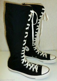 Converse All Star Chuck Taylor XX Hi Top Black Sneakers Knee High Mens Womens #Converse #BasketballShoes