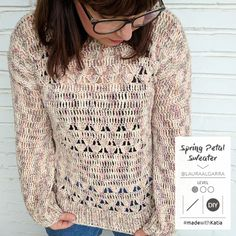 Spring Petal Jumper: Make a simple crochet garment with Boheme yarn T-shirt Au Crochet, Crochet Shirt, Love Crochet, Learn To Crochet, Single Crochet, Jumper Designs, Crochet Simple, Front Post Double Crochet, Make Your Own Clothes