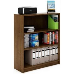 Deep Bookcase - Walnut Effect from Homebase.co.uk
