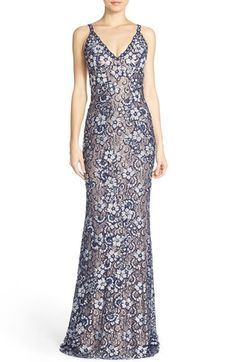 Jovani Embellished Lace Gown available at #Nordstrom