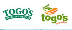 Togo's Logo, Before and After
