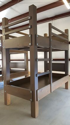 custom twin xl over twin xl bunk bed