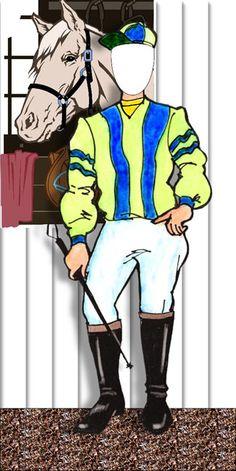 Kentucky Derby Theme Horse Racing Jockey Photo Op / It's your turn to be a jockey!