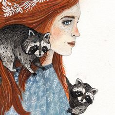 Red & The Raccoons is finished! I hope that both Raccoons count for two days of my #100animals100days daily drawing challenge ;-) The original is available in my shop now! www.sandradieckmann.com/originals/redandtheraccoons . . . #kunst #künstler #girl #raccoon #auburn #gouache #watercolor #pencil #graphite #art #illustration #sandradieckmann #drawing #painting #blue #animal #dailydrawing #original #red