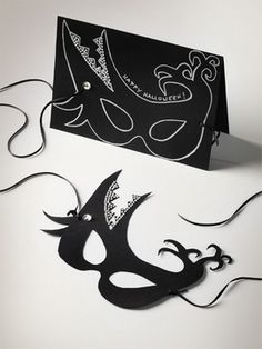 Halloween Card & Mask    Swarovski Elements, via their site, downloadable project!