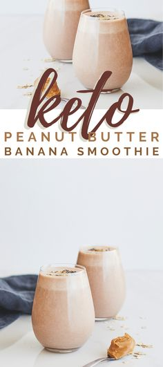Packed with protein, this healthy Keto Low Carb Peanut Butter Banana Smoothie will feel you up until lunch time and is the perfect after workout recovery drink! Now, before you say bananas are not low carb, let me tell you, yes, you are correct. However, did you know that you can use Banana Extract - yes!! Nutritious Smoothies, Good Smoothies, Smoothie Drinks, Smoothie Recipes, Drink Recipes Nonalcoholic, Yummy Drinks, Alcoholic Drinks, Beverages, Cocktails