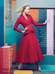 US Vogue, December 2012. Story: Full Spectrum! Styling: Grace Coddington. Photography: Craig McDean.