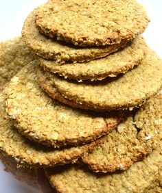 Oatmeal Cookies, Vegan Desserts, Lchf, Cake Cookies, Food And Drink, Healthy Recipes, Bread, Baking, Diabetes