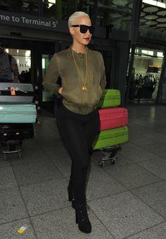 celebritiesofcolor:  Amber Rose at Heathrow Airport in London