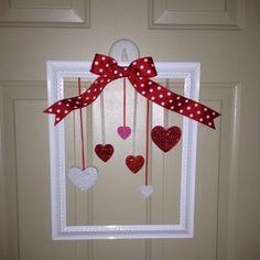 Valentines Day 'wreath'.