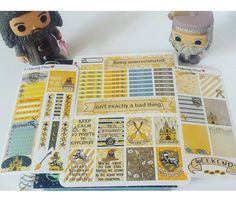 House Hufflepuff-Hand drawn Harry Potter inspired weekly sticker kit for Erin Condren planners https://www.etsy.com/listing/292820187/house-hufflepuff-hand-drawn-harry-potter