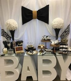 When collaborations meetup #babyshower #desserttable #instalike #instamood #instagood #popularpic #photooftheday #baby #black #white #blacktie