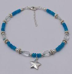 Star Anklet, Independence Day, Sterling Silver, Adjustable to Simple Bracelets, Cute Bracelets, Layered Bracelets, Gemstone Bracelets, Ankle Bracelets, Bracelets For Men, Handmade Bracelets, Sundance Jewelry, Chakra Bracelet