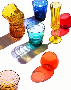 i would love to try capture of glass with colourful shadow, i live the different shape, colourful, angle and size