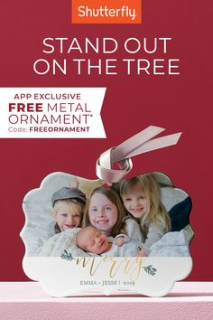 Get the gift that will be on display for countless holiday seasons to come. Add some personalization to their decorations with a free metal ornament. Use code FREEORNAMENT, only on our Shutterfly app. Holiday Traditions, Family Traditions, Homemade Ornaments, Photo Ornaments, Shutterfly, Christmas Photos, Wonderful Time, Photo Book, Holiday Gifts