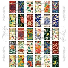 Free Printable Collage Sheets | ... Pendant Digital Collage Sheet | zcatstudio - Craft Supplies on ArtFire