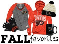 Philadelphia Flyers Fall Favorites from Rally House! http://www.rallyhouse.com/nhl-philadelphia-flyers?utm_source=pinterest&utm_medium=social&utm_campaign=Pinterest-PhiladelphiaFlyers