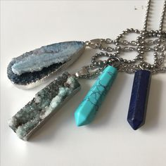 Quartz. Amethyst. Aventurine. Opal. Lapiz Latzuli. Buddha. Gold Necklaces. Fine handmade art. Stainless steel necklaces. Silver & metal plated Stones. Healing Jewlery from The Toolery. Minerals & Stones special collection for Eva & Gina's Lifestyle.