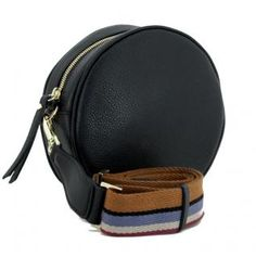 runde Umhängetasche Leder Gianni Chiarini Tamburello schwarz - Bags & more Leather Backpack, Backpacks, Bags, Fashion, Circuit, Pouch, Hand Bags, Handbags, Moda