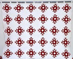 Crown of Thorns  http://pinterest.com/anniesews/two-color-quilts/