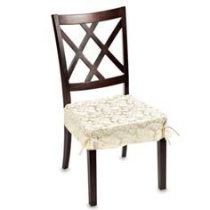 Buy Ashbury Scroll Seat Covers From At Bed Bath Beyond Quickly Transform The Look Of Any Dining Room Chair By Adding This Elegant Cover