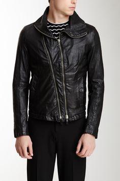 Emporio Armani Winter Leather Jacket