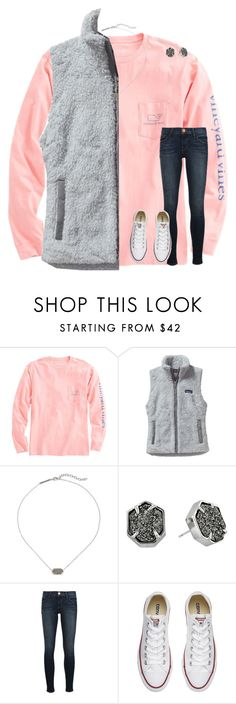 """I've messed up so, so badly"" by mimichavi ❤ liked on Polyvore featuring Vineyard Vines, Patagonia, Kendra Scott, Frame and Converse"