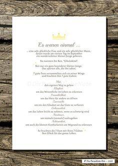 Gastgeschenke - Druck/Print: Segenswunsch für Kinder (Märchen) - ein Designerstück von DiePersoenlicheNote bei DaWanda