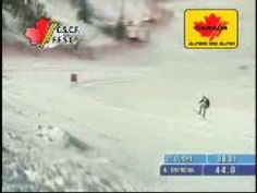 Aksel Lund Svindal becomes world champion in Are. Watch the 80mph / 80meter jumpat 0:35.