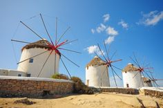 Οι ανεμόμυλοι! #Mykonos #windmills Paros, Myconos, Flora, Fair Grounds, Plants