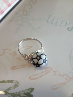 Soccer Ring.  $10.00 Available in sizes 1-14   Soccer mom  Soccer Fan  sports