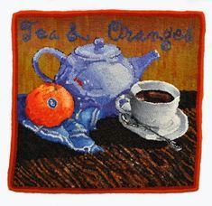 Tea Oranges Rughookingmagazine Com Rug Inspiration Punch Needle Hooking