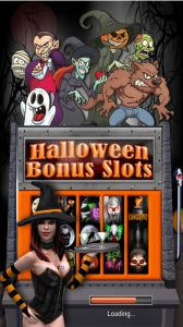 Halloween Bonus Slots - With the Halloween Bonus Slots app, you'll find a highly intricate way to play slots, full of spooky surprises and highly thematic gameplay that works all year long. It boasts comprehensive three-dimensional graphics and has plenty of animations. You'll be entertained with a variety of animations as you play; animations which display zombies, witches, ghosts, mummies, werewolves and more. Click the image for our full review.