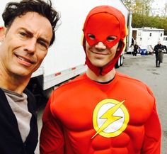 Grant Gustin Retweeted Tom Cavanagh @CavanaghTom  T It's different? G Yep T the emblem? G Nope T Ur working out more? G Nope T Dam G Yep T Gonna drive me crazy G -er.