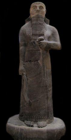 Statue of Assyrian king Shalmaneser III