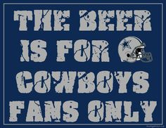 Dallas Cowboys Fan Sign - Man Cave Sign