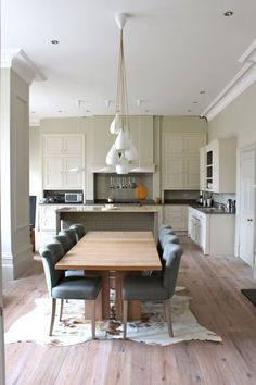 open kitchen with different zones