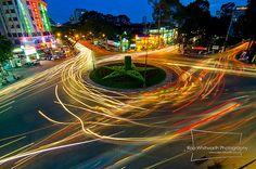 Traffic in Ho Chi Minh City, Vietnam - Timelapse
