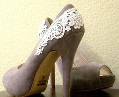 gray shoes & lace