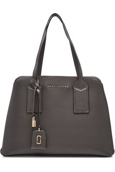 Marc Jacobs The Editor Leather Tote In Grey Marc Jacobs Tote, Best Designer Bags, Grey Fashion, Bottega Veneta, Editor, Handbags, Tote Bag, Leather, Shopping