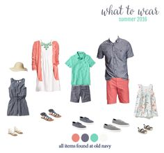 Easter outfit ideas What to wear for summer family photos! Adorable outfits for the entire family. Perfect for your summer photo session with Miss Freddy! Spring Family Pictures, Family Pictures What To Wear, Family Beach Pictures, Summer Photos, Beach Photos, Photos 2016, Family Pics, Beach Picture Outfits, Family Picture Outfits