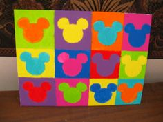 Disney Pop Art Painting - MORE ART, LESS CRAFT - This would be so easy to do!