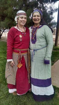 Lady Rosa and Mistress Anya in Rus garb, Estrella War XXXI.