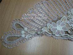 Outstanding Crochet: Crochet Shawls and scarfs Crochet Chain, Freeform Crochet, Crochet Art, Irish Crochet, Crochet Scarves, Crochet Motif, Crochet Clothes, Crochet Necklace, Crochet Patterns